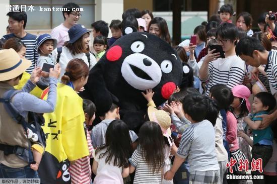 资料图:日本著名的熊本熊是熊本县营业部部长兼幸福部长,可谓是日本最著名的公务员。