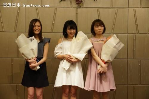 """华人明星组合""""CJAngel""""在会上登台亮相。(日本《中文导报》图片)"""